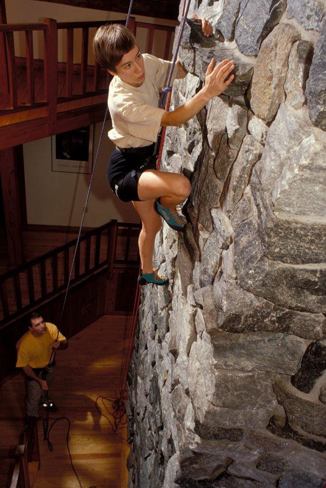 Climbing on inside wall