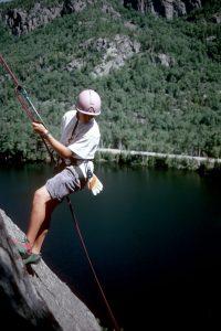 Repelling off a climb