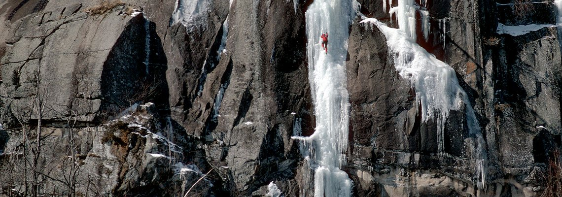 Ice Climber on the goat