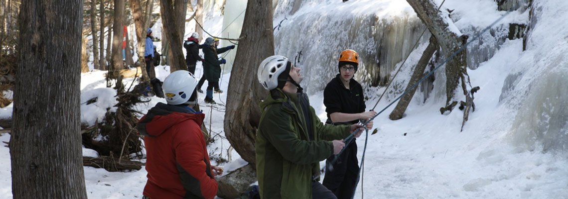 Group of ice climbers