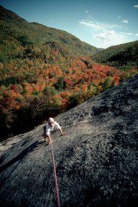 Climbing in the Adirondack autumn